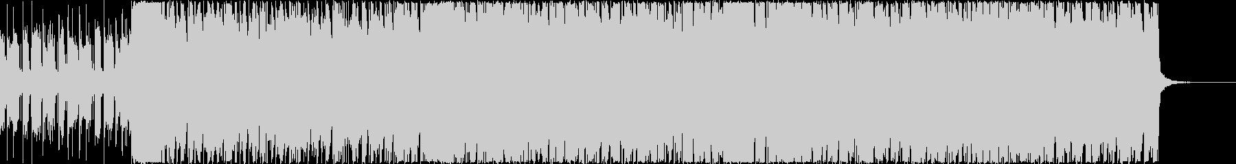 エレクトロロックな4つ打ち入場SEの未再生の波形