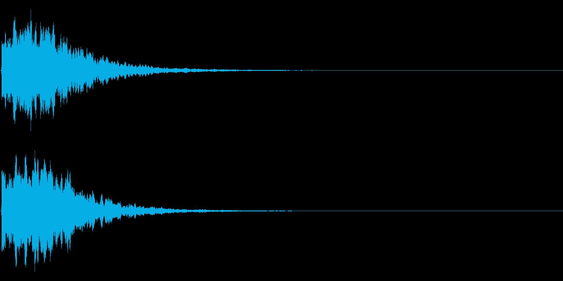 ゲームスタート、決定、ボタン音-081の再生済みの波形