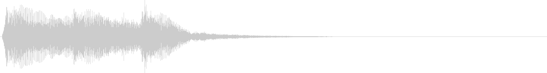 アイドルをイメージしたジングル 2小節Bの未再生の波形