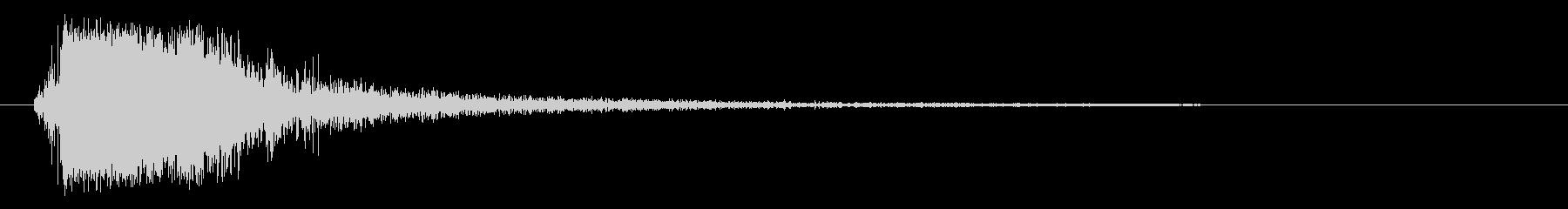 パンッ (乾いた衝撃音)の未再生の波形