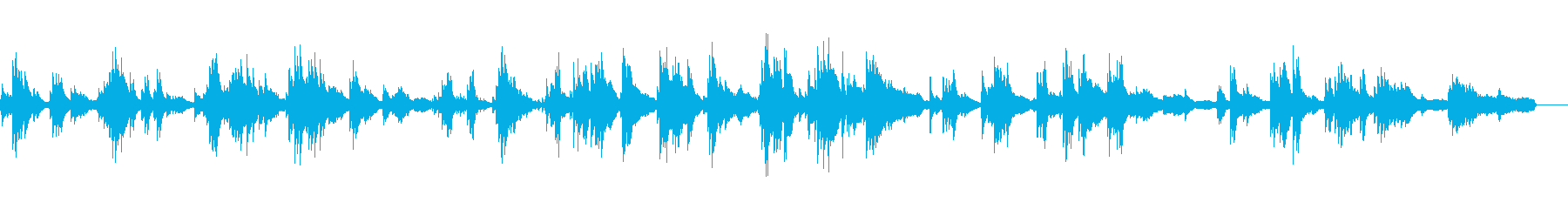 切ないピアノバラード(和風テイスト)の再生済みの波形