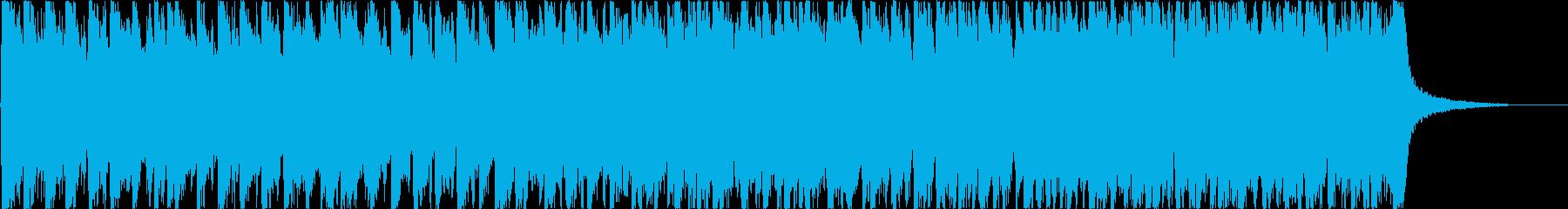 躍動感あるポップスメロディの再生済みの波形