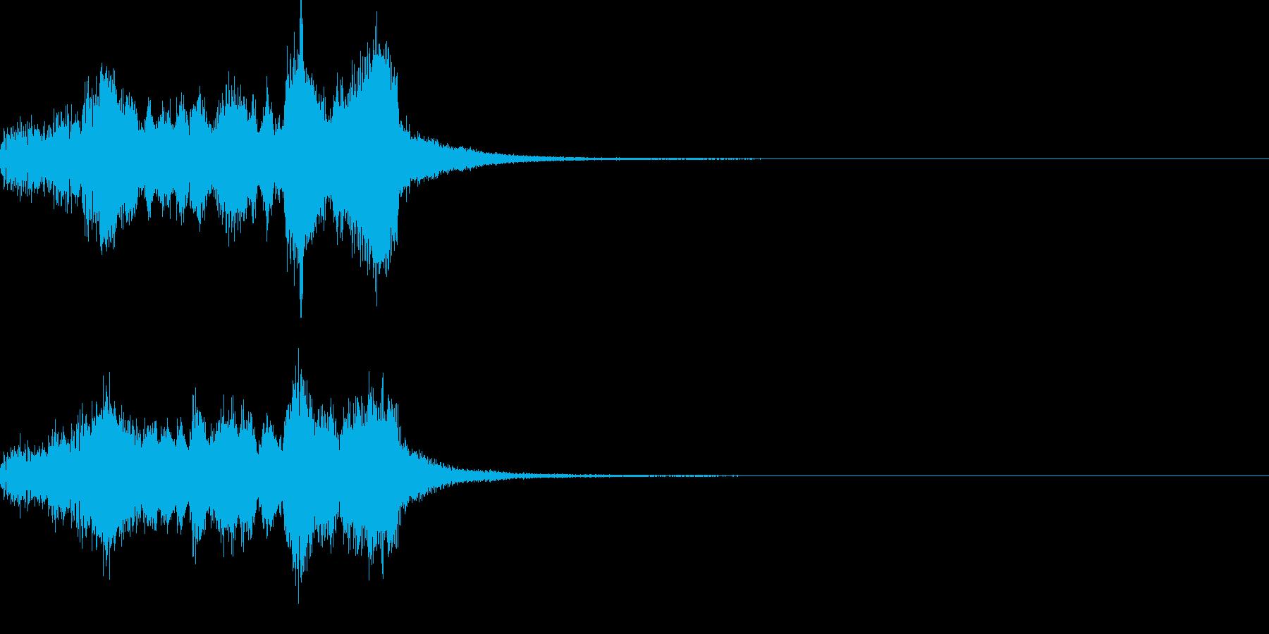 派手なファンファーレの再生済みの波形