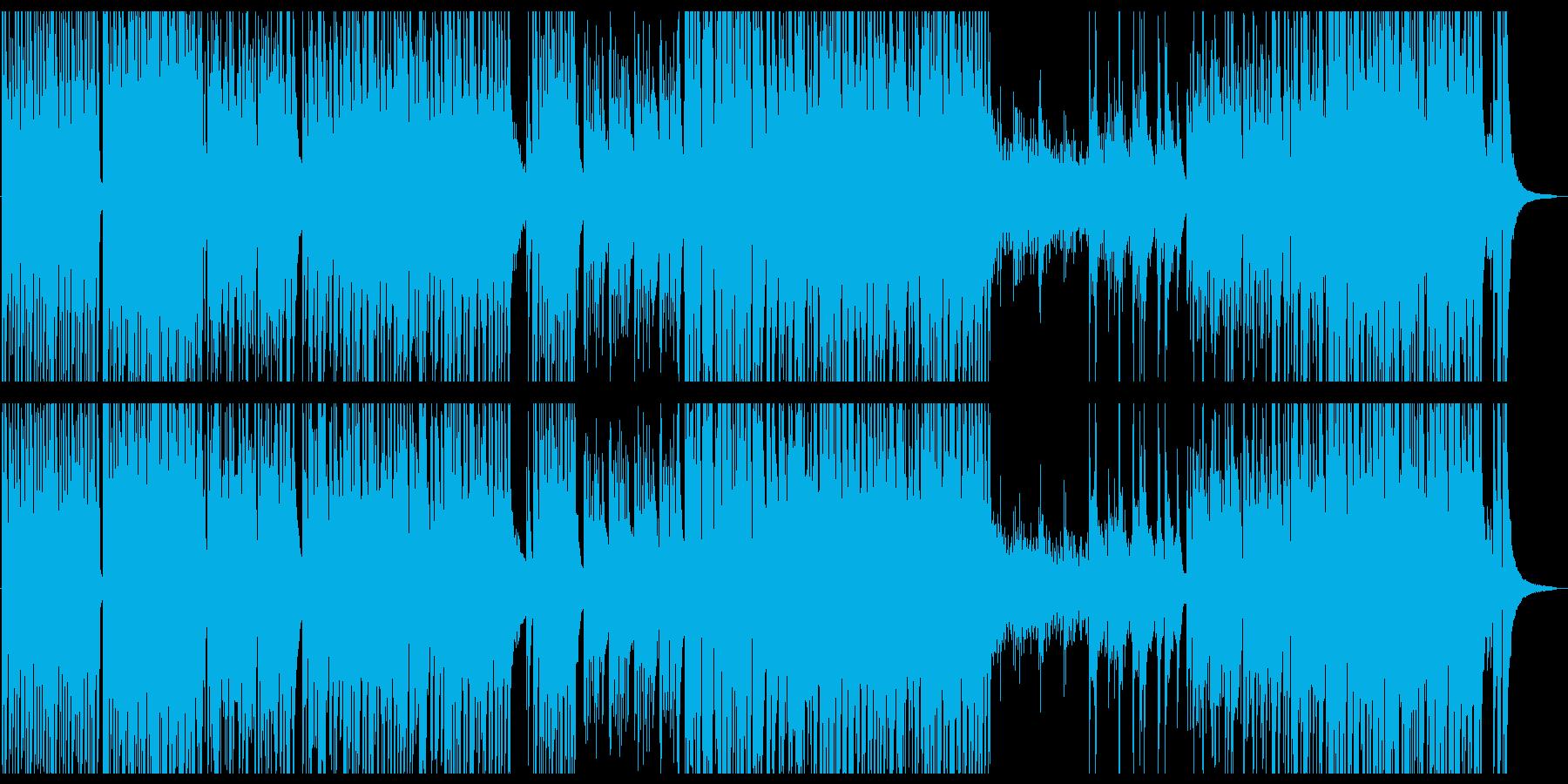 爽やかで快活なアコ―スティックギター曲の再生済みの波形