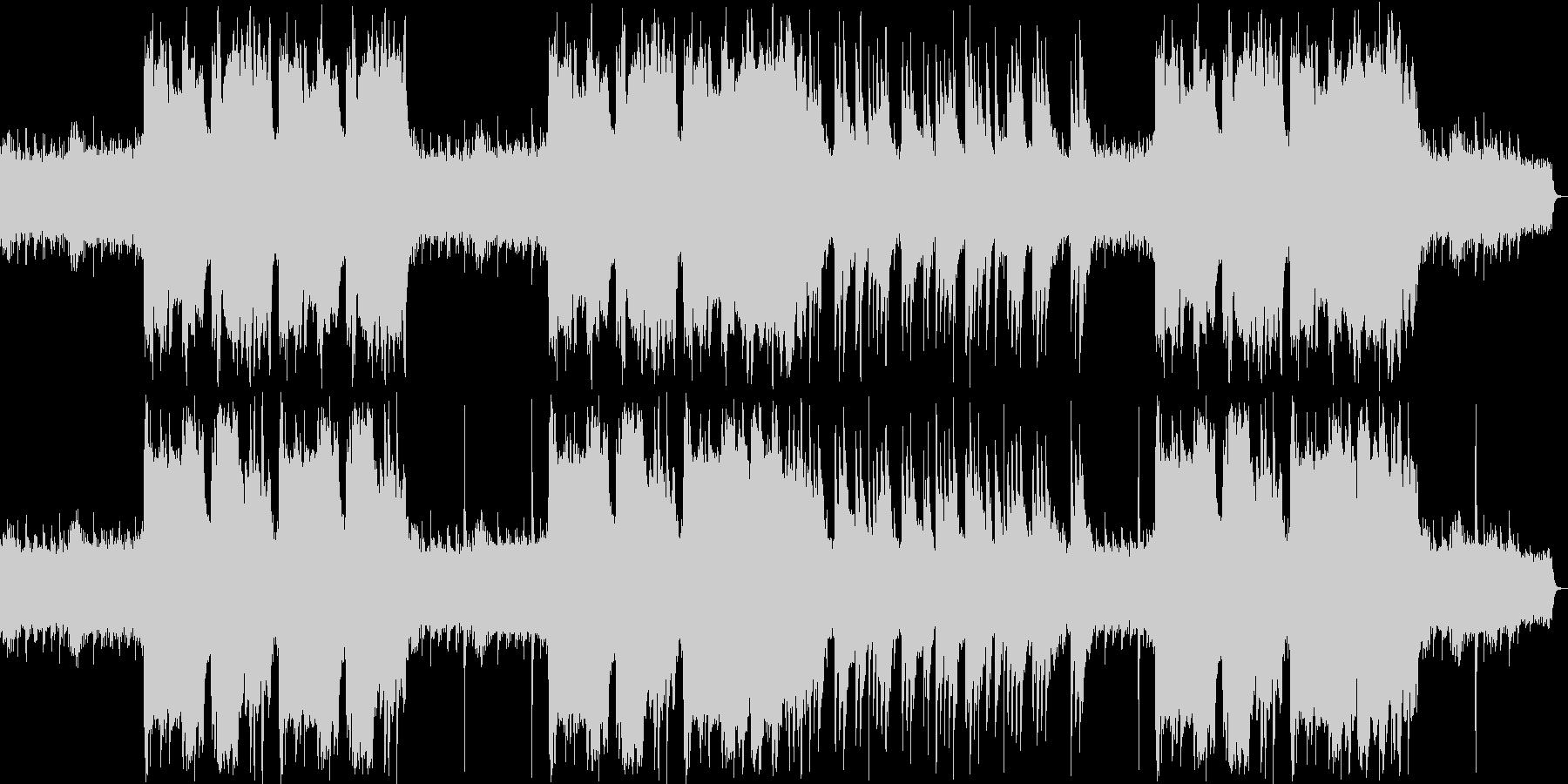 ファンタジーなシンセサイザー・鈴などの曲の未再生の波形