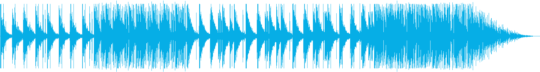 寂しげ/夜空/R&B_No447_3の再生済みの波形
