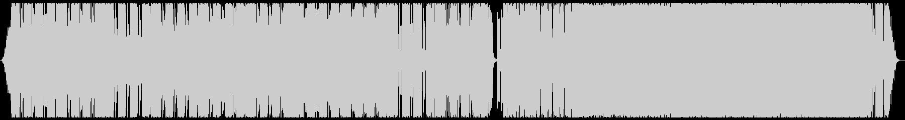 重低音が響くヘドバンしたくなる曲の未再生の波形