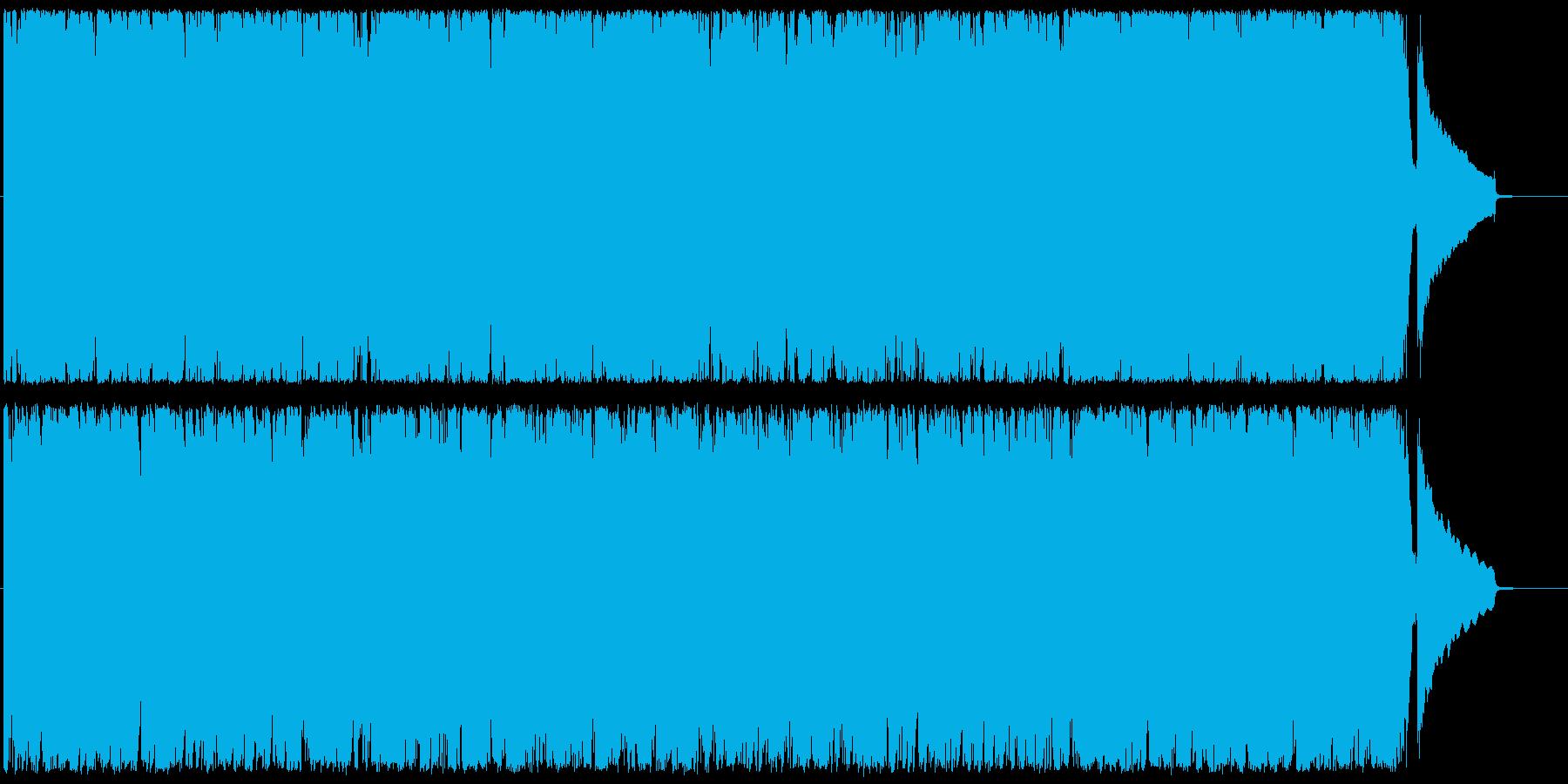 サックスとピアノのほのぼのポップスの再生済みの波形