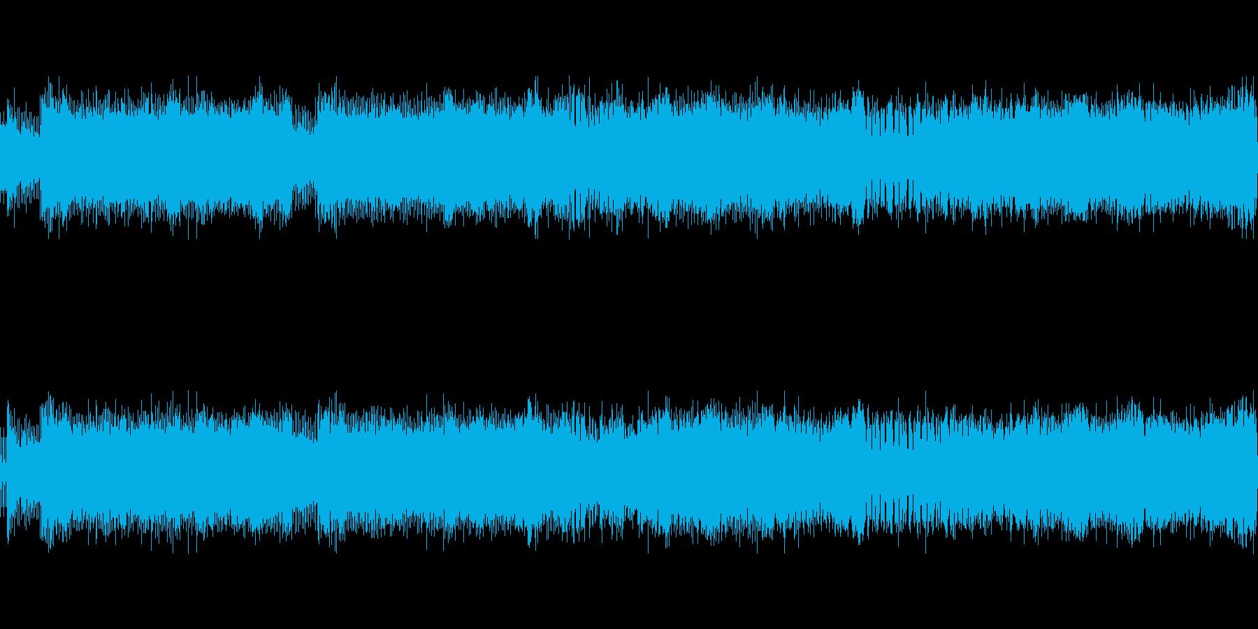 ロックハード戦闘格闘ゲームBGMループの再生済みの波形