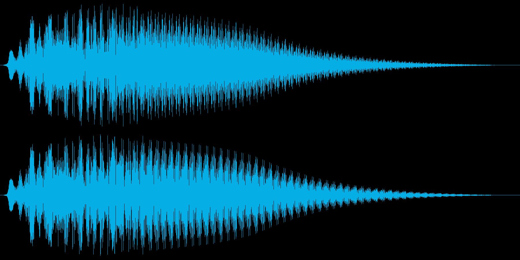 ポワワワーン、という不思議な電子音の再生済みの波形