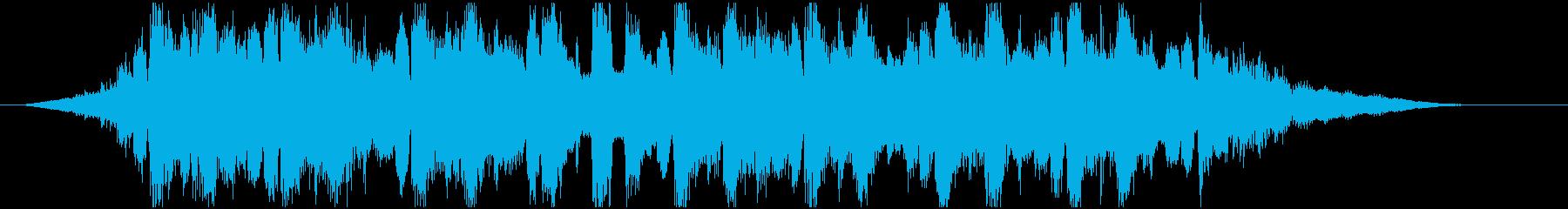 シンセリードとギターの柔らかなジングルの再生済みの波形
