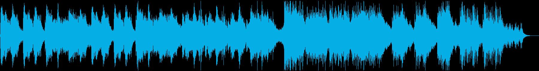 静かな和風ヒーリング・ループの再生済みの波形