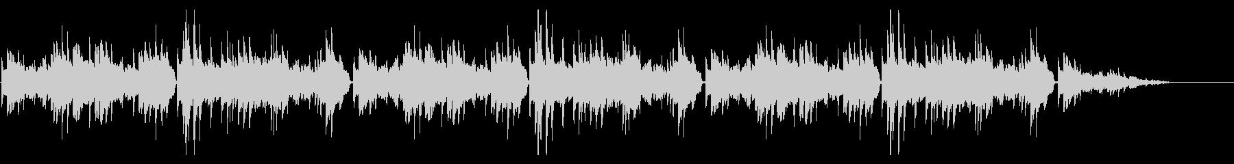 秋の定番童謡「紅葉」シンプルなピアノソロの未再生の波形