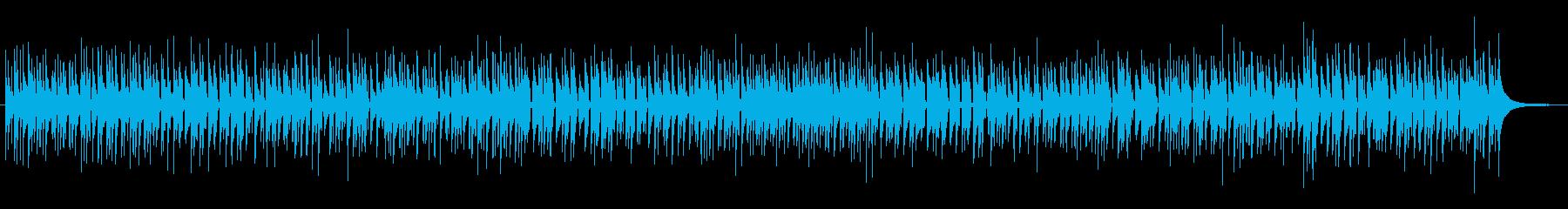 明るくほのぼのとしたウクレレの再生済みの波形
