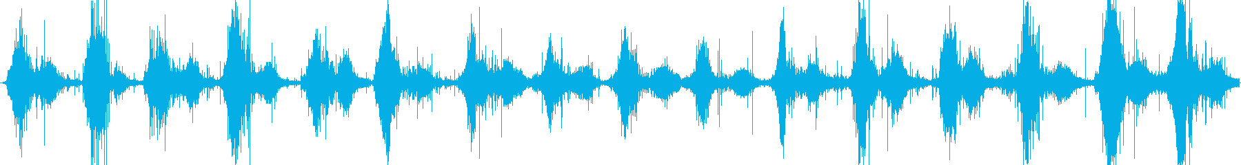 落ち葉の上を歩く足音の再生済みの波形