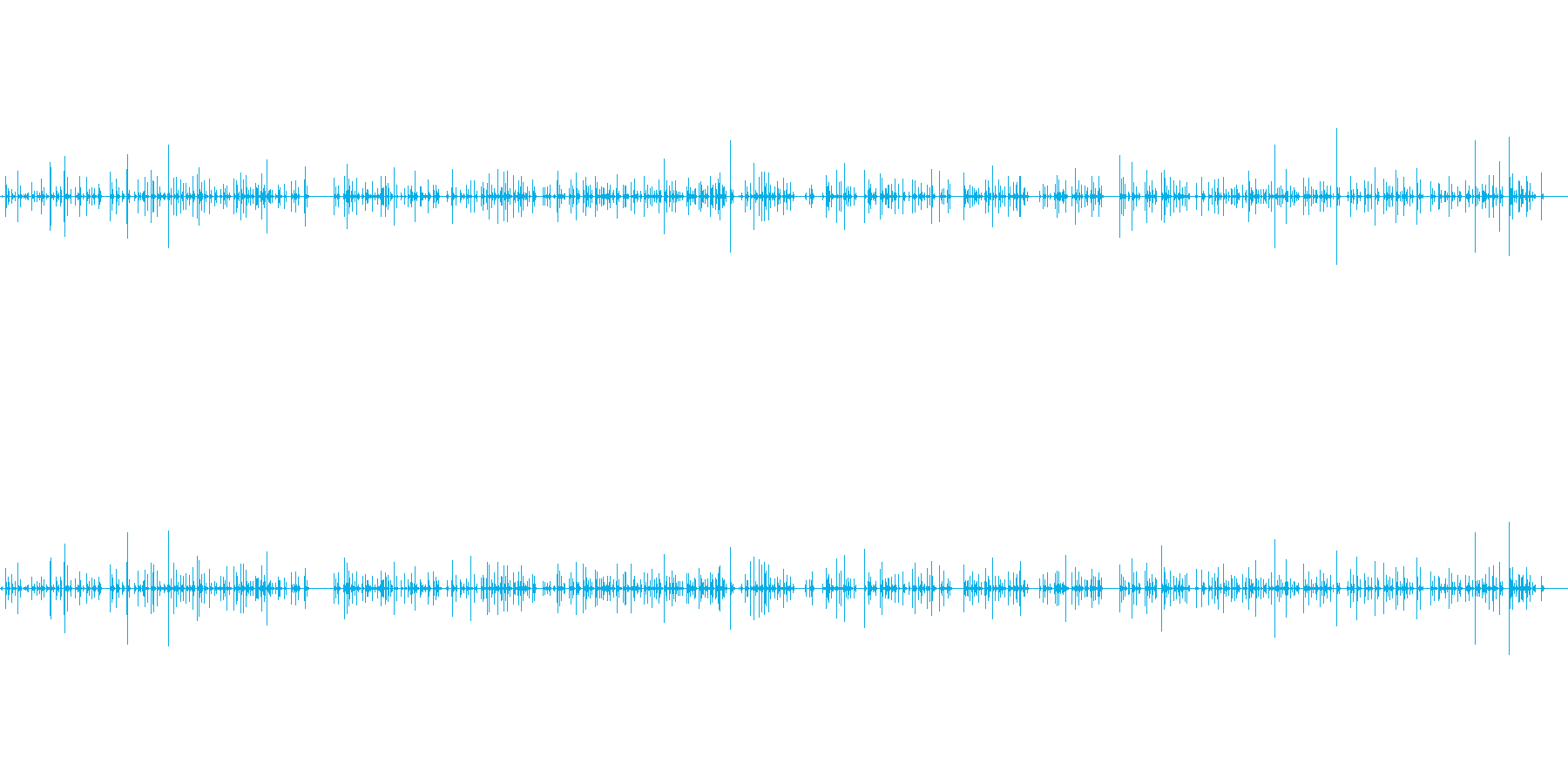 ノートパソコンのキーボードで入力する人の再生済みの波形