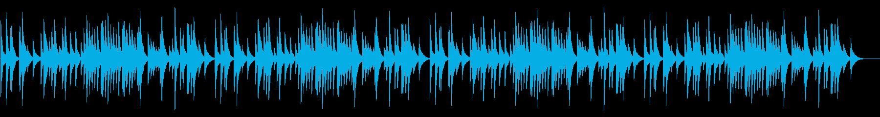 もろびとこぞりて 18弁オルゴールの再生済みの波形