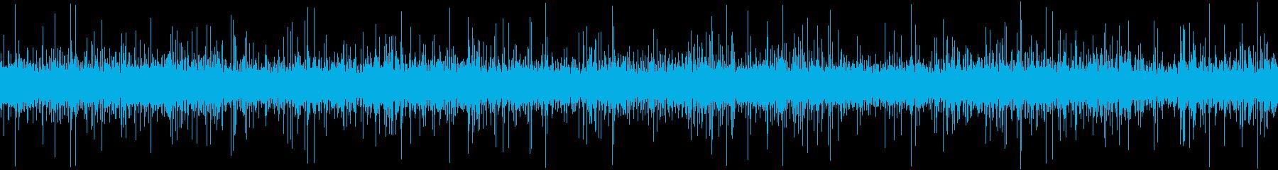 ループ再生・水音・流れる川の再生済みの波形