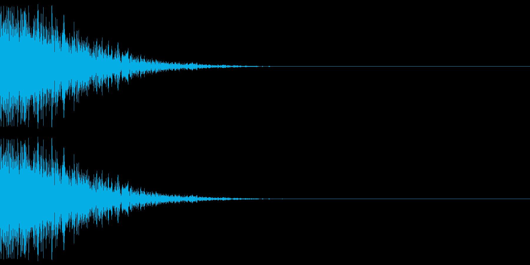 ドーン(爆発する音)の再生済みの波形