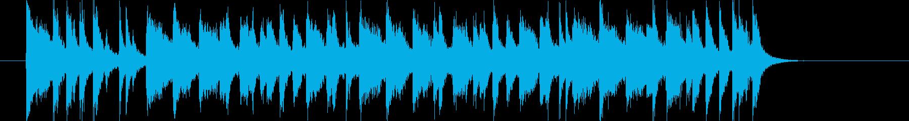 リズミカルで明るいポップジングルの再生済みの波形