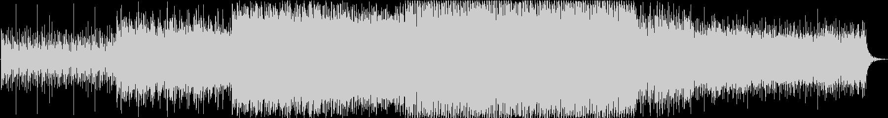 シンセサイザーを使用した明るいポップな曲の未再生の波形