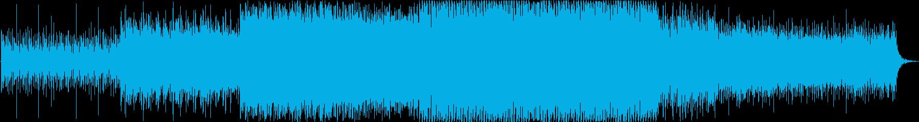 シンセサイザーを使用した明るいポップな曲の再生済みの波形
