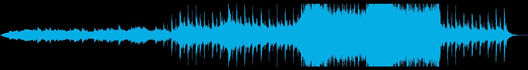壮大な宇宙をテーマにしたトレーラー音楽の再生済みの波形