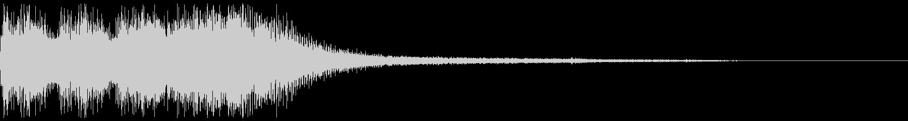 エラー音 飛んでぶつかる金属音の未再生の波形