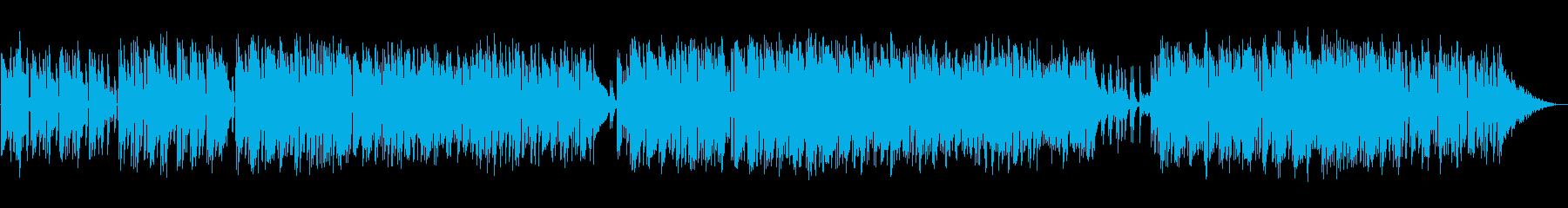 ゆったりとしたボサノバの再生済みの波形