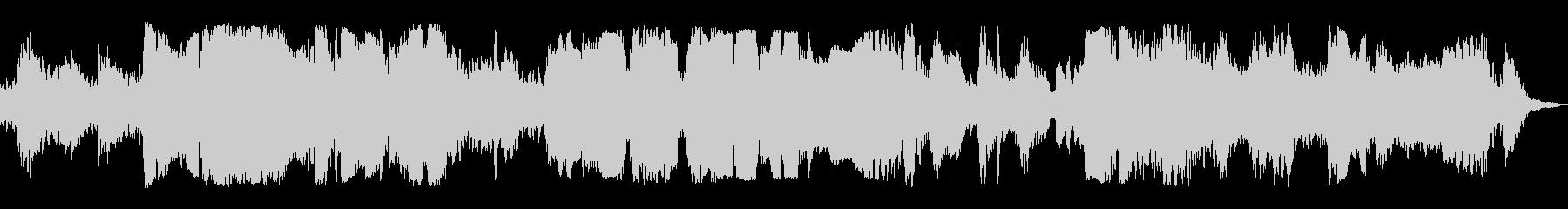 ハープとオカリナの優しいヒーリング曲の未再生の波形