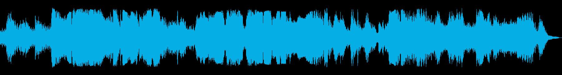 ハープとオカリナの優しいヒーリング曲の再生済みの波形