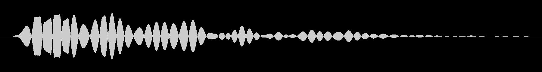 ポンの未再生の波形
