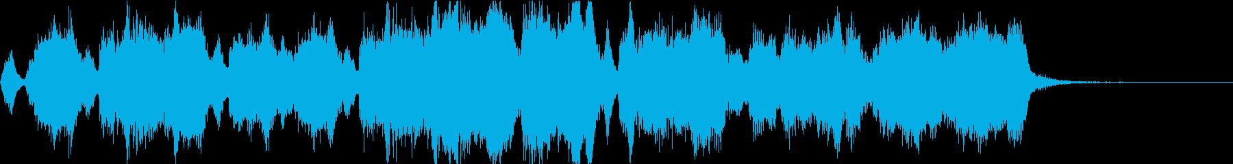 スポーツ向け金管アンサンブルのジングルの再生済みの波形