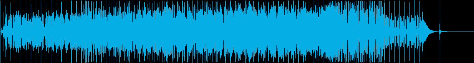 ファンキーなグルーヴベースとドラム...の再生済みの波形