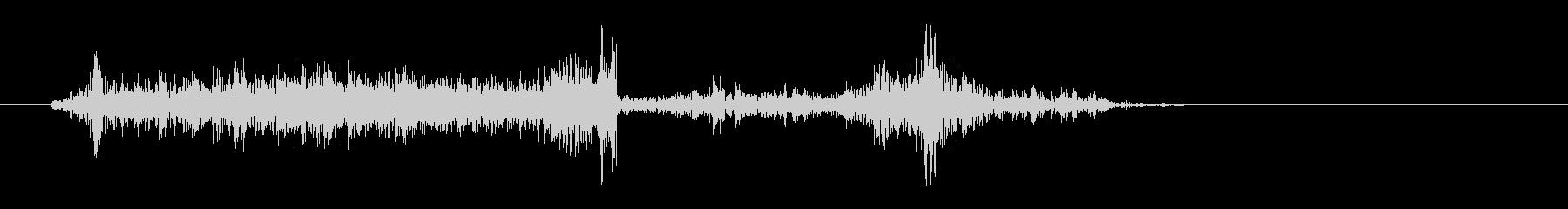 ビリリッ(紙が動く音)の未再生の波形