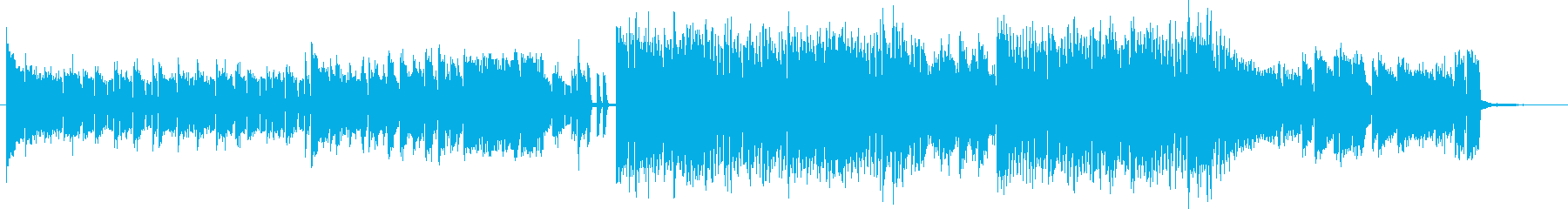 ハイスピード、疾走感のあるエレクトロの再生済みの波形
