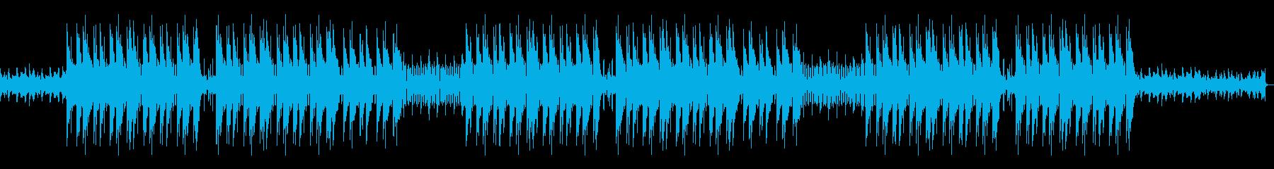 ホラーっぽいピアノトラップビートの再生済みの波形