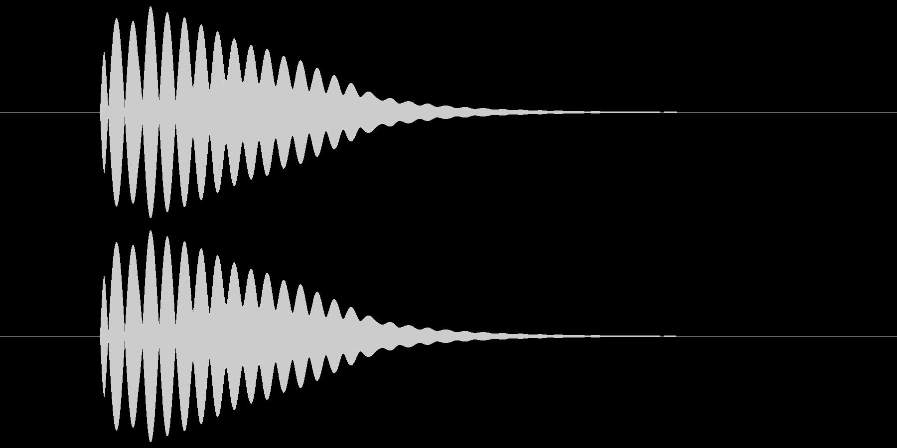 ポーン(透明感のある余韻のある音) 01の未再生の波形