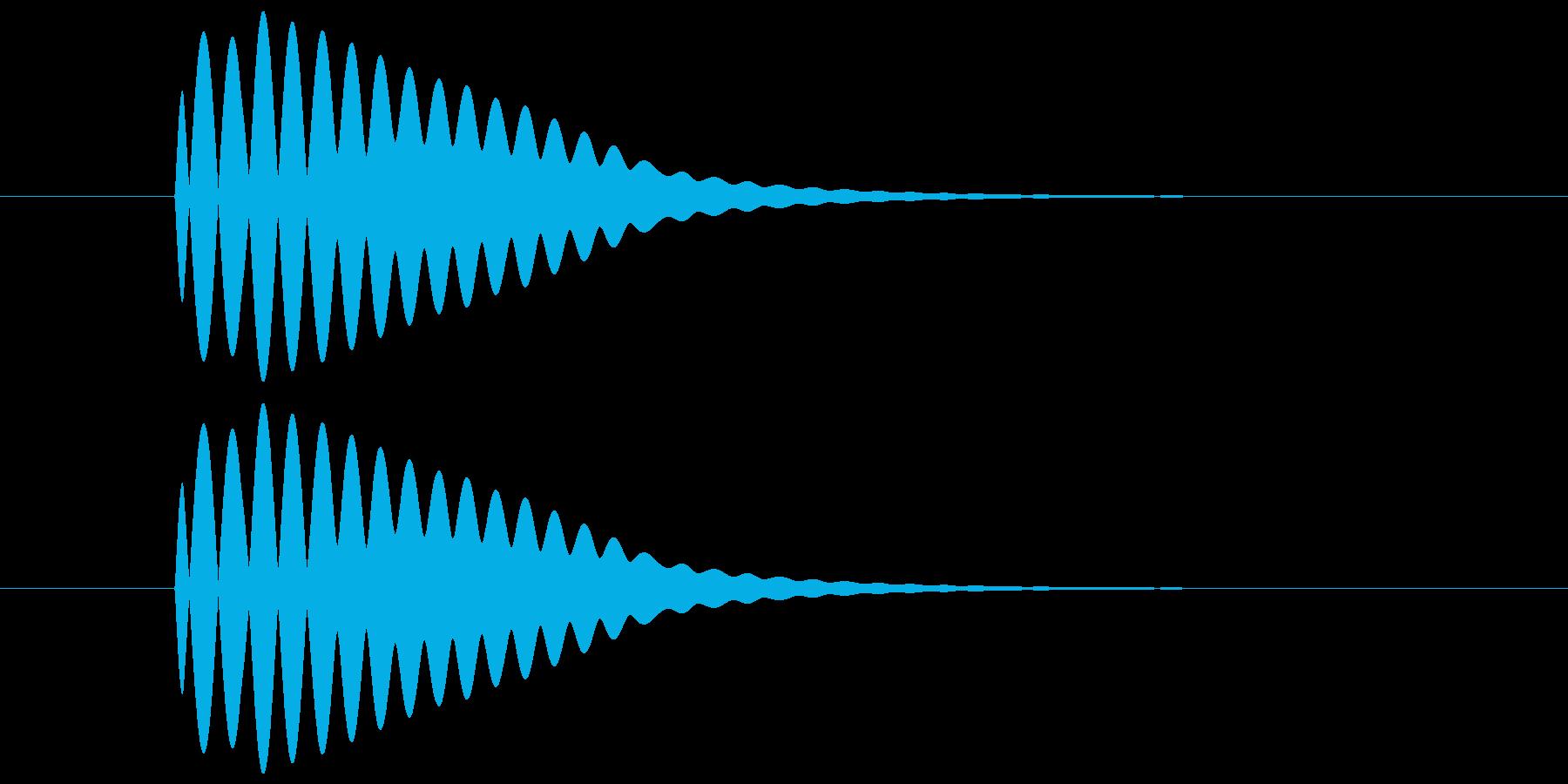 ポーン(透明感のある余韻のある音) 01の再生済みの波形