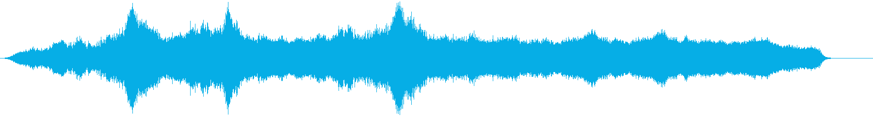 安定した低サブベル、低サブのロングベルの再生済みの波形