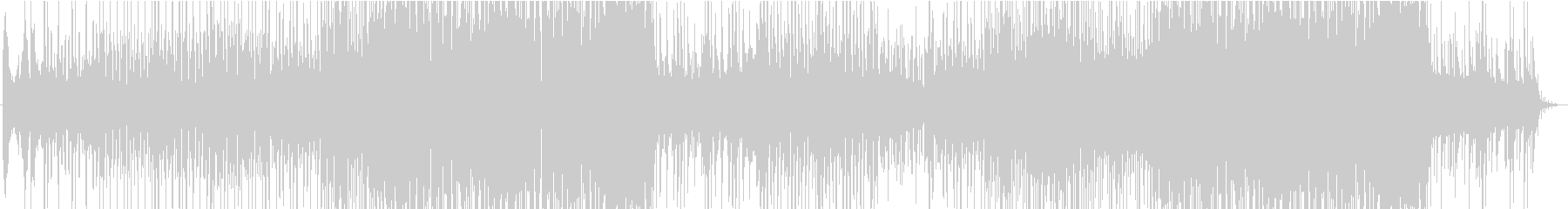 三味線と太鼓が奏でる和風EDM楽曲の未再生の波形