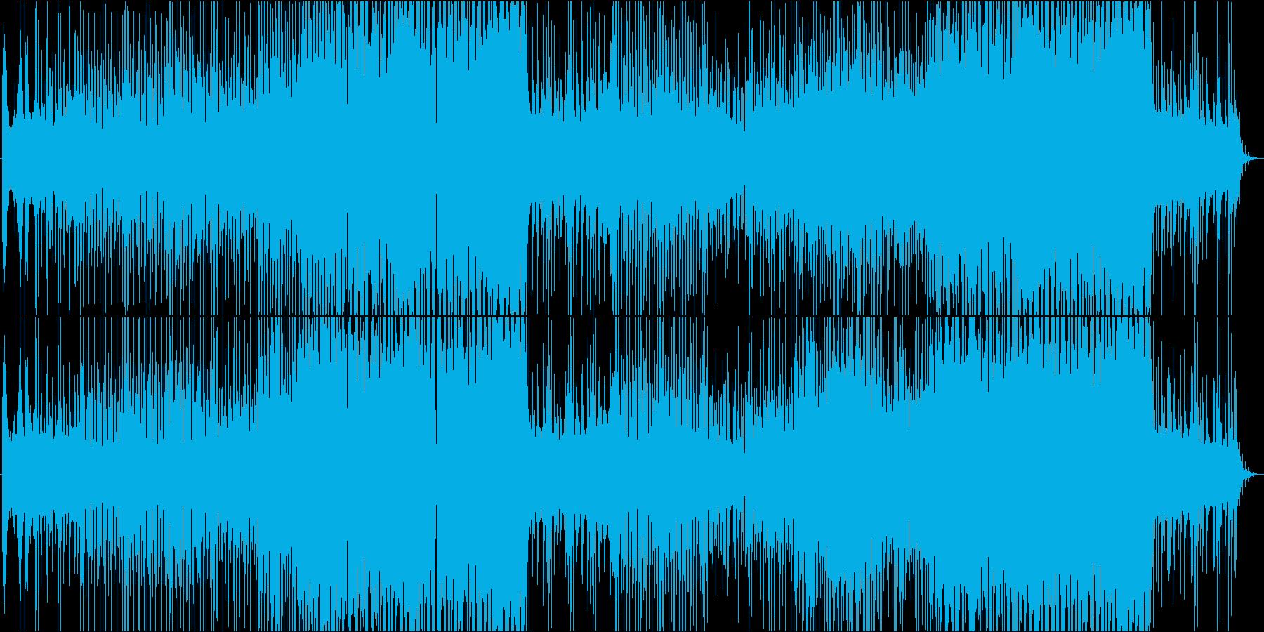 三味線と太鼓が奏でる和風EDM楽曲の再生済みの波形