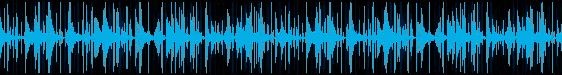 Lo-Fiビート_レトロなピアノループの再生済みの波形