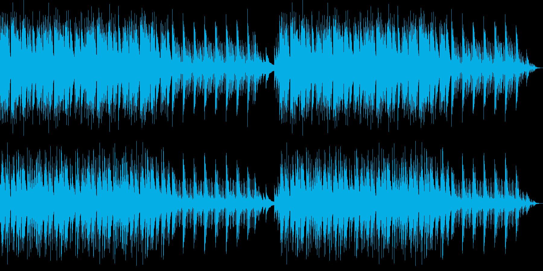 穏やかなヒーリングミュージックの再生済みの波形