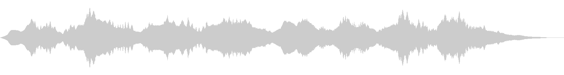劇伴 金属的な響きのホラーアンビエントの未再生の波形