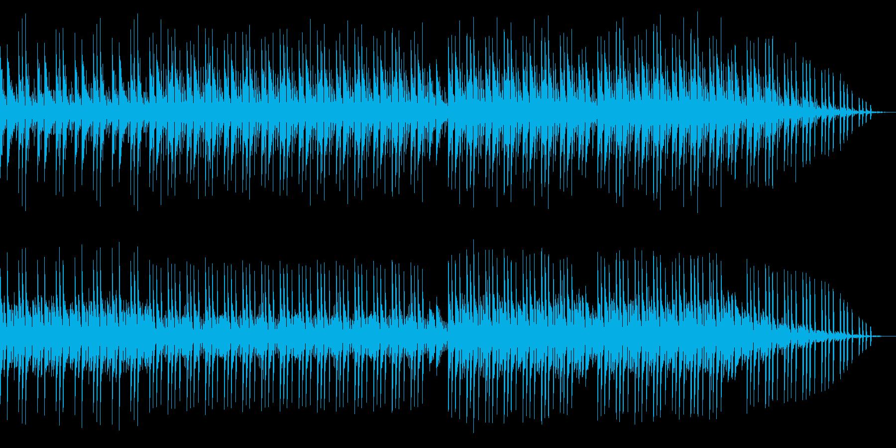 爽やかな印象を与える楽曲の再生済みの波形