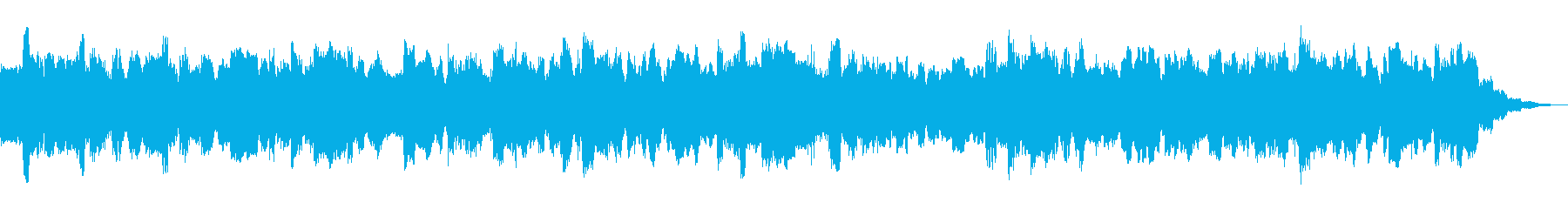 静かなる闘志のテーマ30秒BGMの再生済みの波形