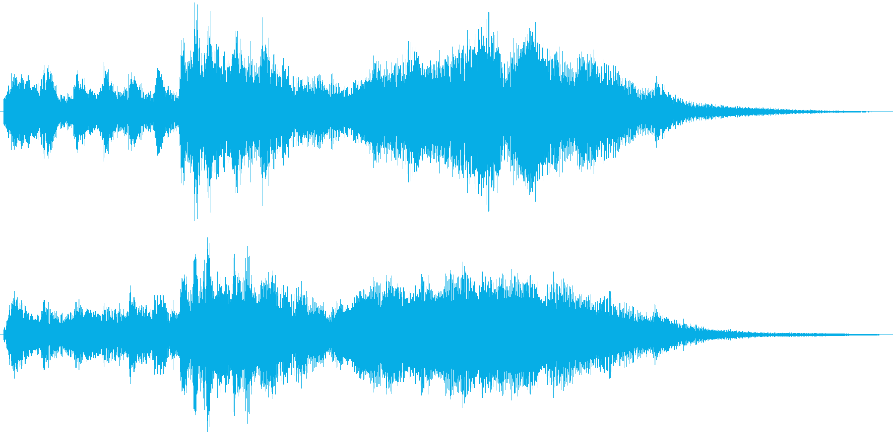 ゲストの登場シーンに使えそうなジングルの再生済みの波形