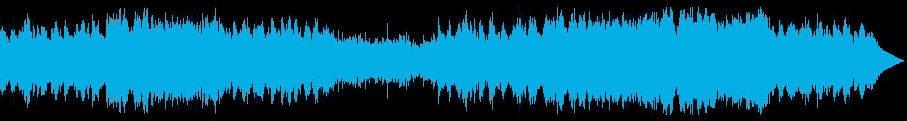 二胡とオーケストラの壮大な東洋系の曲の再生済みの波形