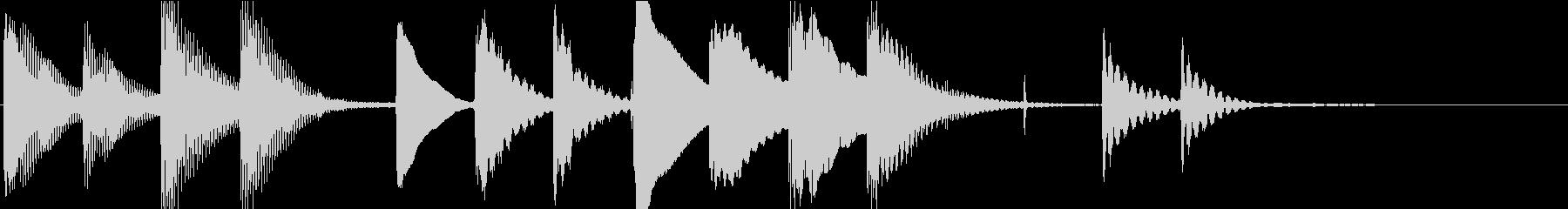 マリンバのほのぼのとしたジングル2の未再生の波形